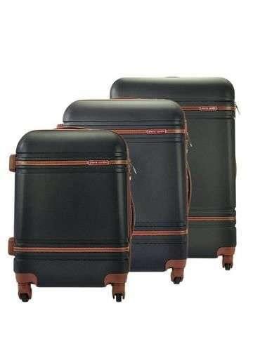 Komplet walizek 3w1 A4 Pierre Cardin 877 LISA01 x3 Z czarny
