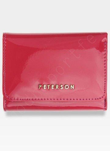 PETERSON Portfel Damski Skórzany Lakierowany Różowy PZ455