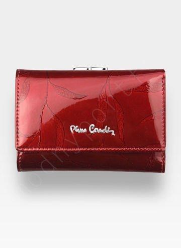 Portfel Damski Pierre Cardin Skórzany Czerwony w Liście 117