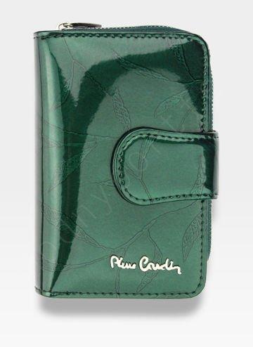 Portfel Damski Pierre Cardin Skórzany Zielony w Liście 115