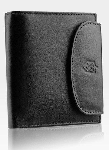 Portfel Damski Skórzany STEVENS Czarny z Zabezpieczeniem RFID