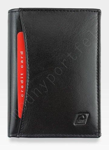 Portfel Męski A-Art Elegancki Klasyczny 4076 Czarny