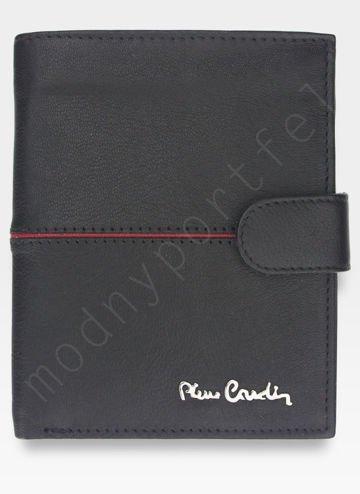 Portfel Męski Zapinany Pierre Cardin Skórzany Klasyczny Czarny GA02 326A