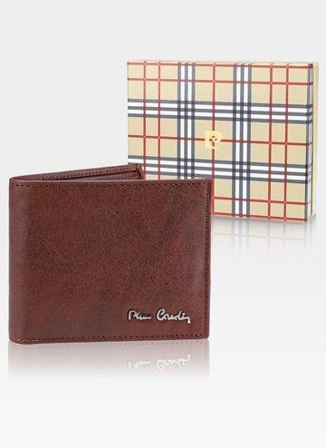 Skórzany portfel męski Pierre Cardin Tilak50 8824 RFID Cognac