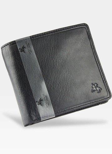 Viscont Bezpieczny Portfel Męski Skórzany Czarny RFID TSC46