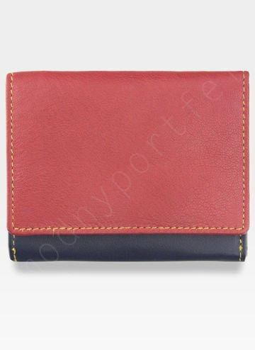 YOSHI Mały Portfel Damski Skórzany Czerwony Multi Y By Yoshi Y1193 26