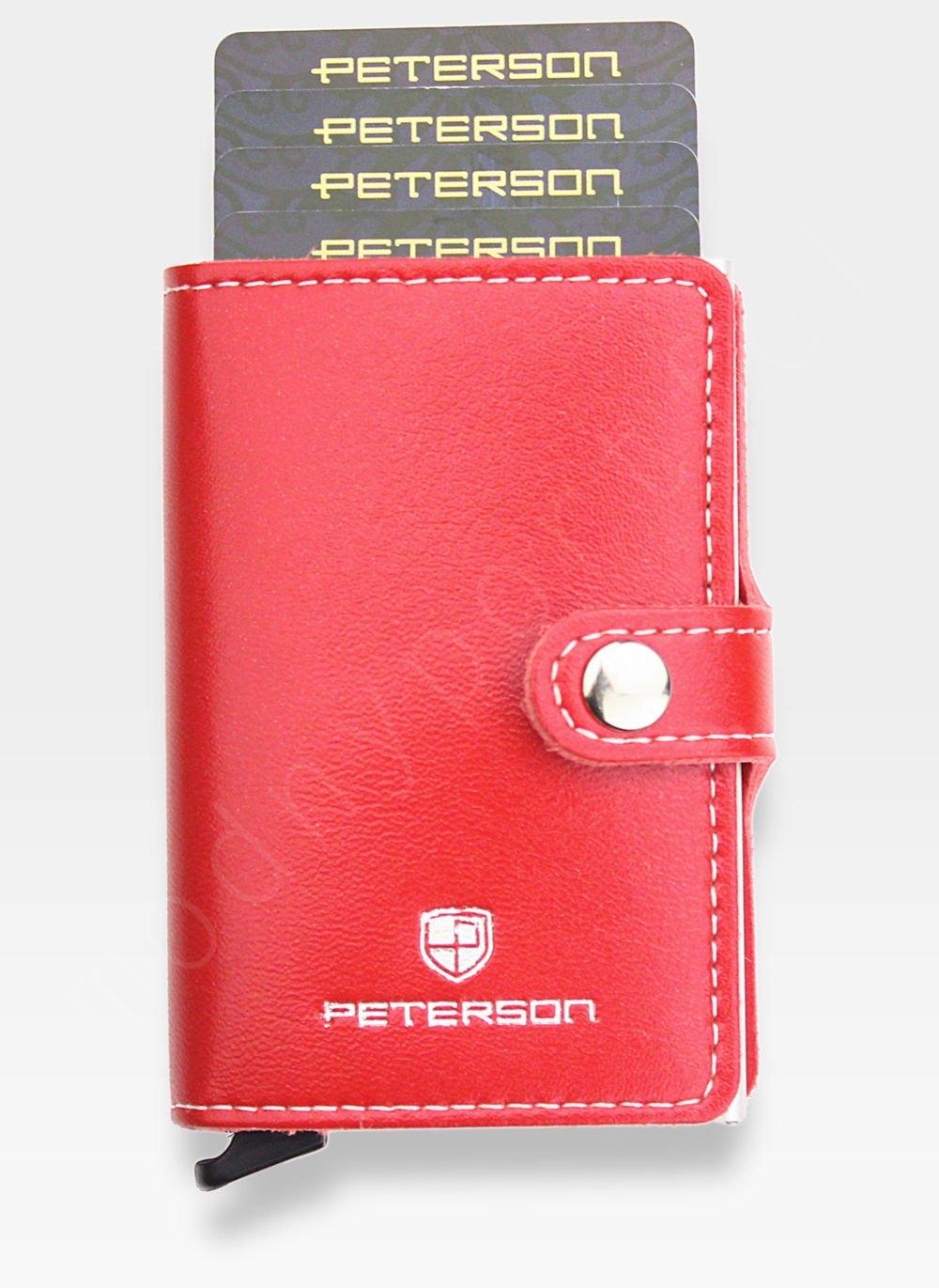 fbd2a2d500f89 Peterson Etui na Karty Automatyczne Aluminiowe Mały Portfel Slim ...