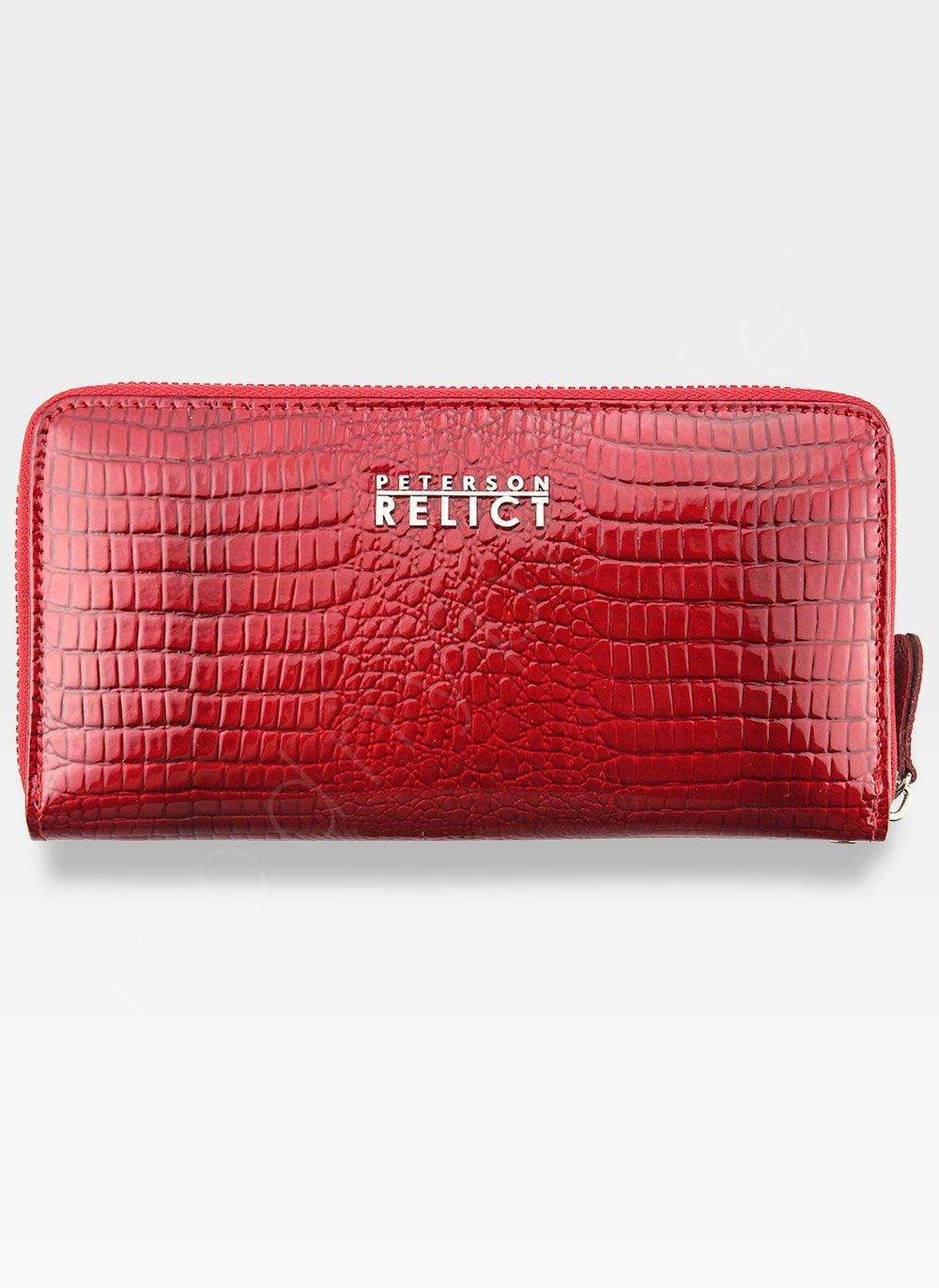 3e0f69b7197c4 Portfel Damski Skórzany PETERSON 780 Czerwony 780 Red Crocodile ...