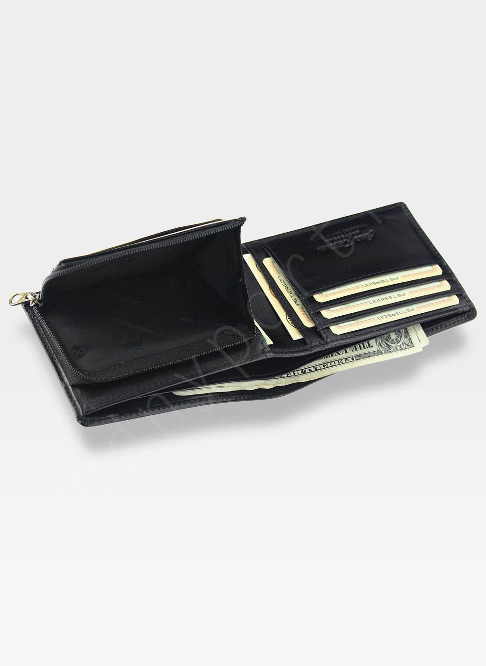 ac4fdb8bdab97 ... Portfel Męski Peterson Skórzany 382 Czarny RFID STOP Kliknij, aby  powiększyć ...