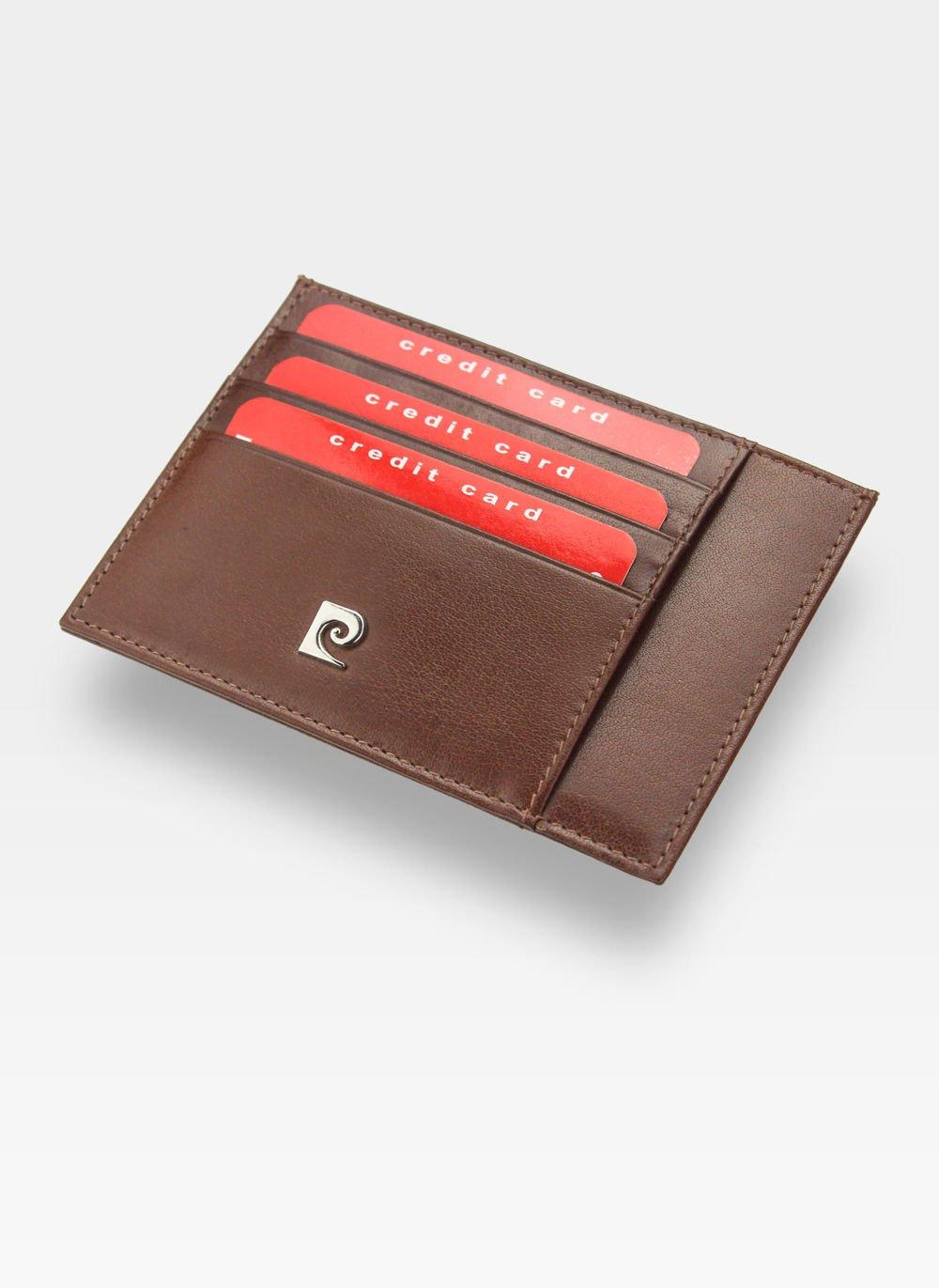 dd798724100cd Portfel Skórzany Cardholder Męski Pierre Cardin Slim Brąz Etui P020  Kliknij, aby powiększyć ...