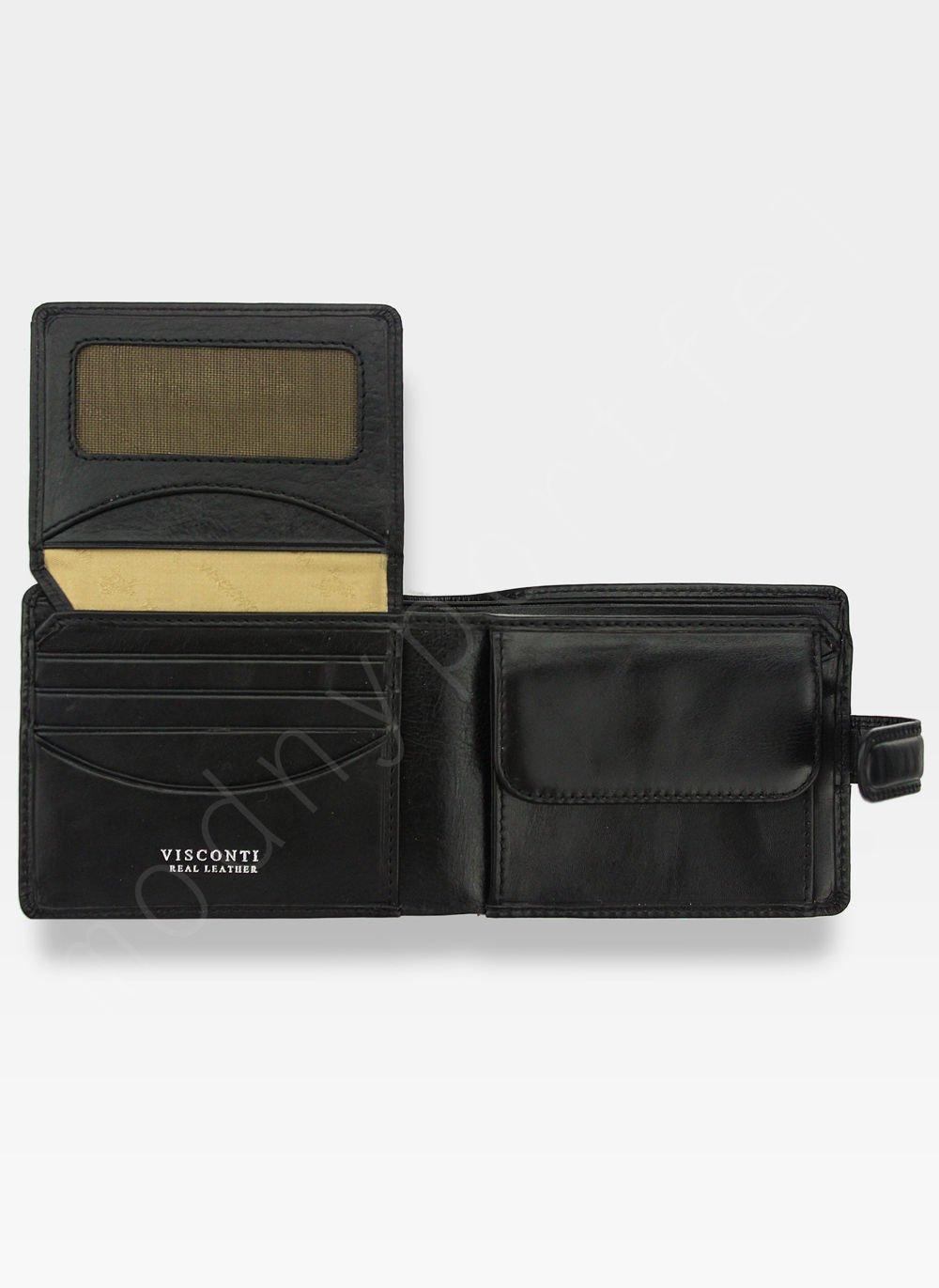 63c1cd2603577 Viscont Bezpieczny Portfel Męski Skórzany Czarny RFID TSC48 TSC-48 ...