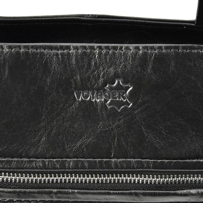 Damska Torebka Skórzana Voyager 498 N czarny
