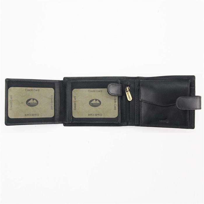 Duży Portfel męski skórzany EL FORREST 892-67 RFID czarny
