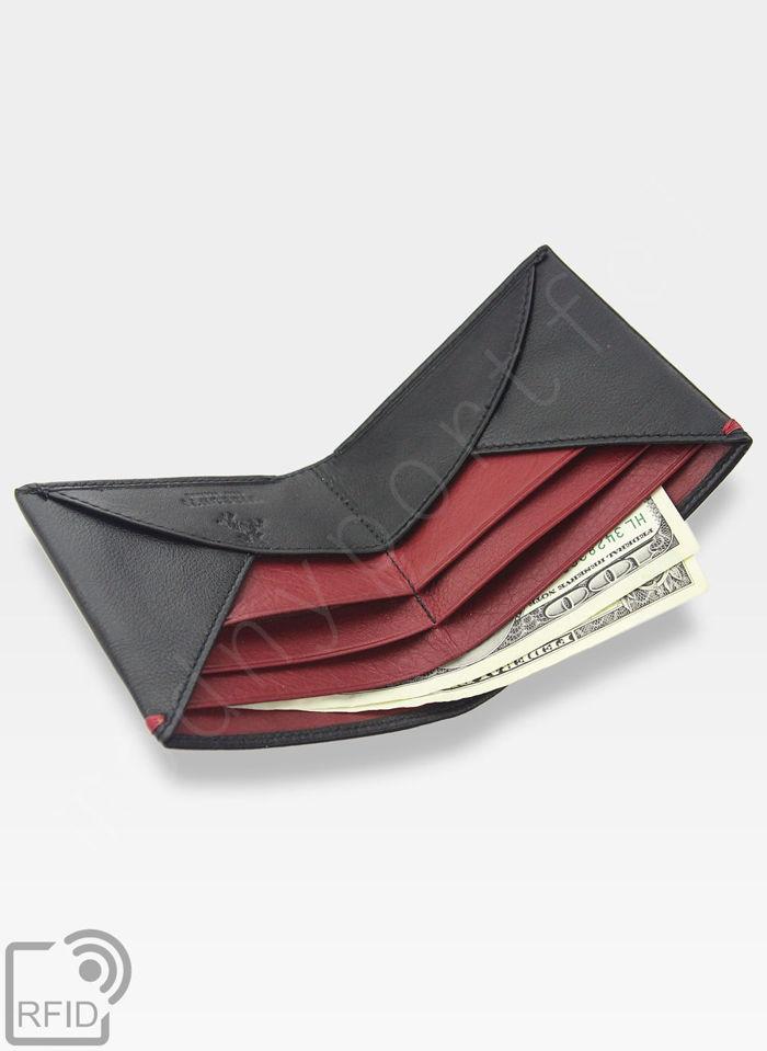 Etui Cardholder Męski Skórzany Visconti Wbudowana Technologia RFID