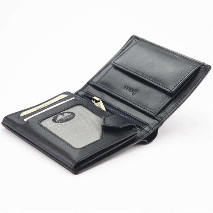 Klasyczny Portfel męski skórzany EL FORREST 234-67 RFID czarny