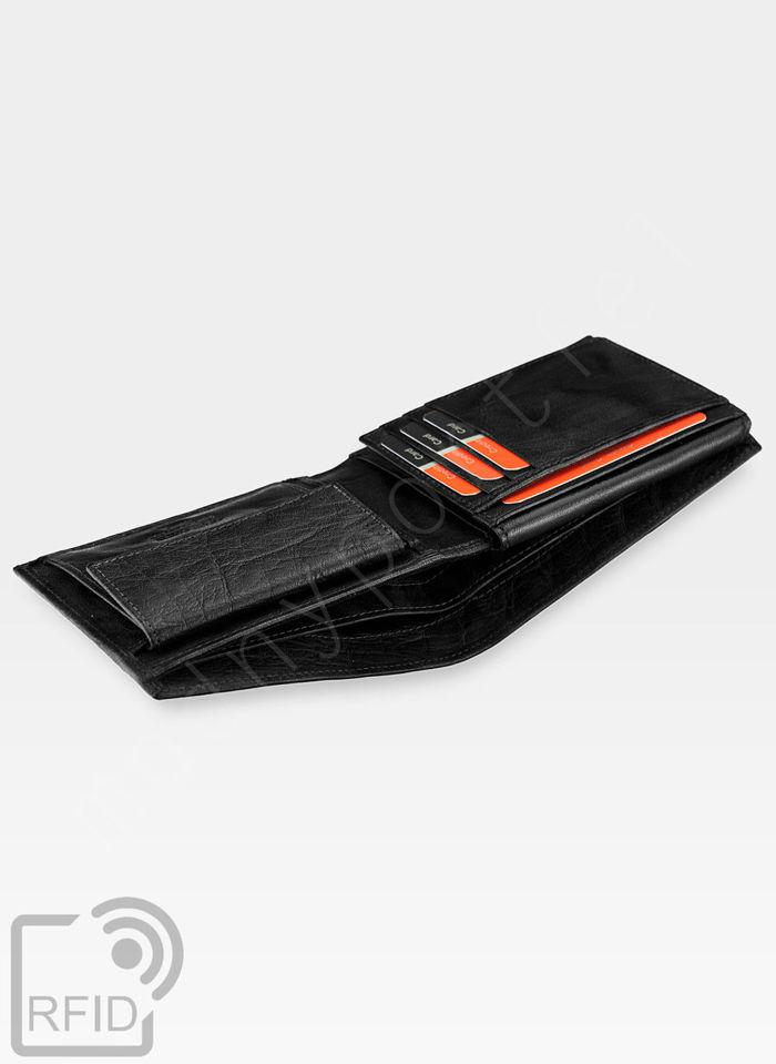 Modny Portfel Męski Pierre Cardin Oryginalny Skórzany Tilak12 8806 Czarny RFID