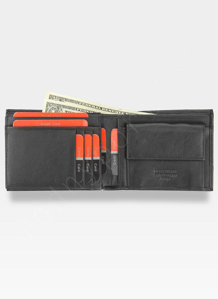 Modny Portfel Męski Pierre Cardin Oryginalny Skórzany Tilak22 8806 Czarny RFID