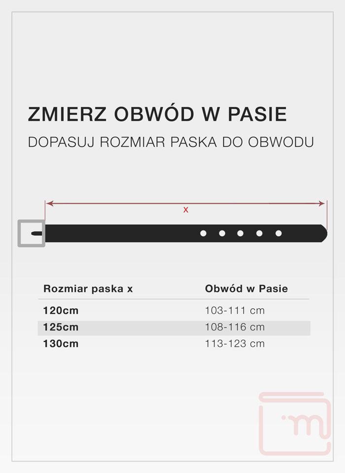 Pasek Męski Pierre Cardin Dwustronny Czarny Oryginalny FWJX5