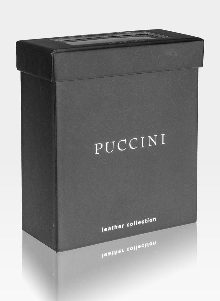 Pasek Męski Skórzany Dwustronny Puccini Do Spodni  Czarny + Granatowy