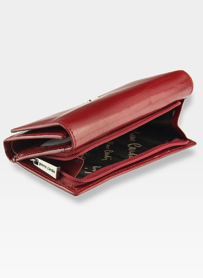 Portfel Damski Pierre Cardin Skórzany Czerwony 520.7 356