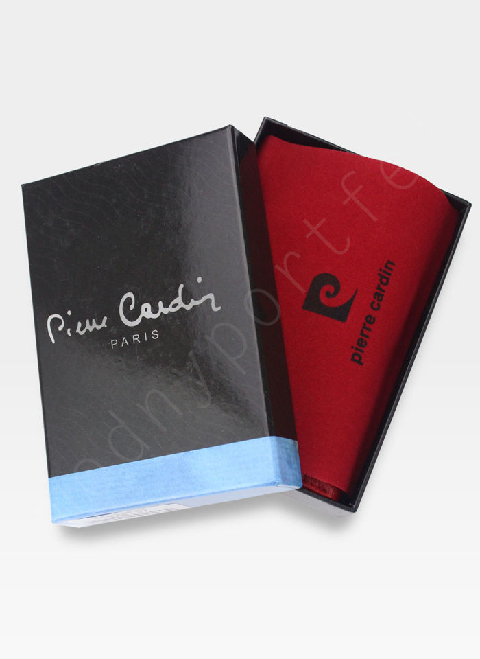 Portfel Damski Pierre Cardin Skórzany Czerwony w Liście 04 Plant 108