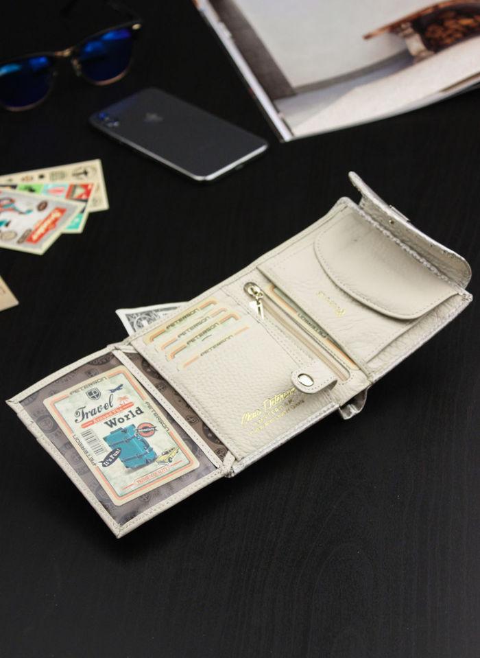 Portfel Damski Skórzany PETERSON 405 Elegancki Lakierowany System RFID STOP