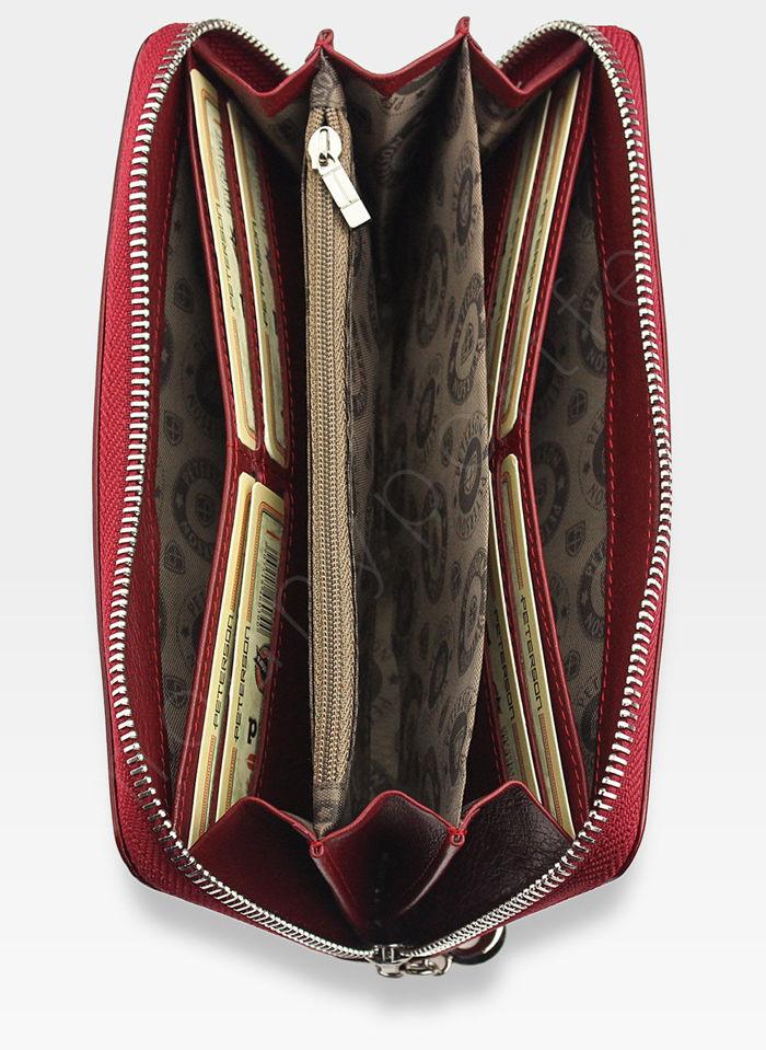 Portfel Damski Skórzany PETERSON 440 Czerwony