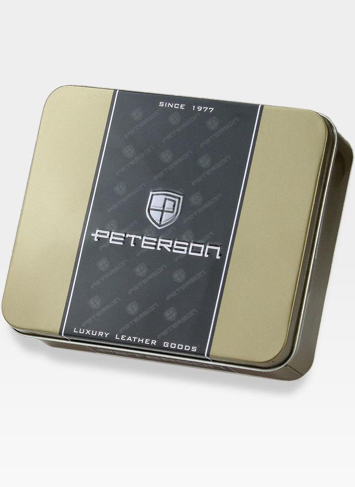 Portfel Damski Skórzany PETERSON BIGIEL 460 Bordowy