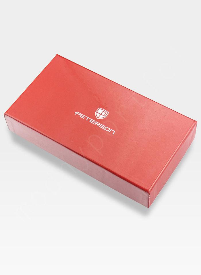 Portfel Damski Skórzany PETERSON Lakierowany 603 Czerwony