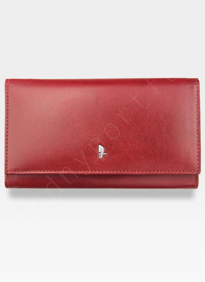 Portfel Damski Skórzany PUCCINI Czerwony z Biglem MU1704
