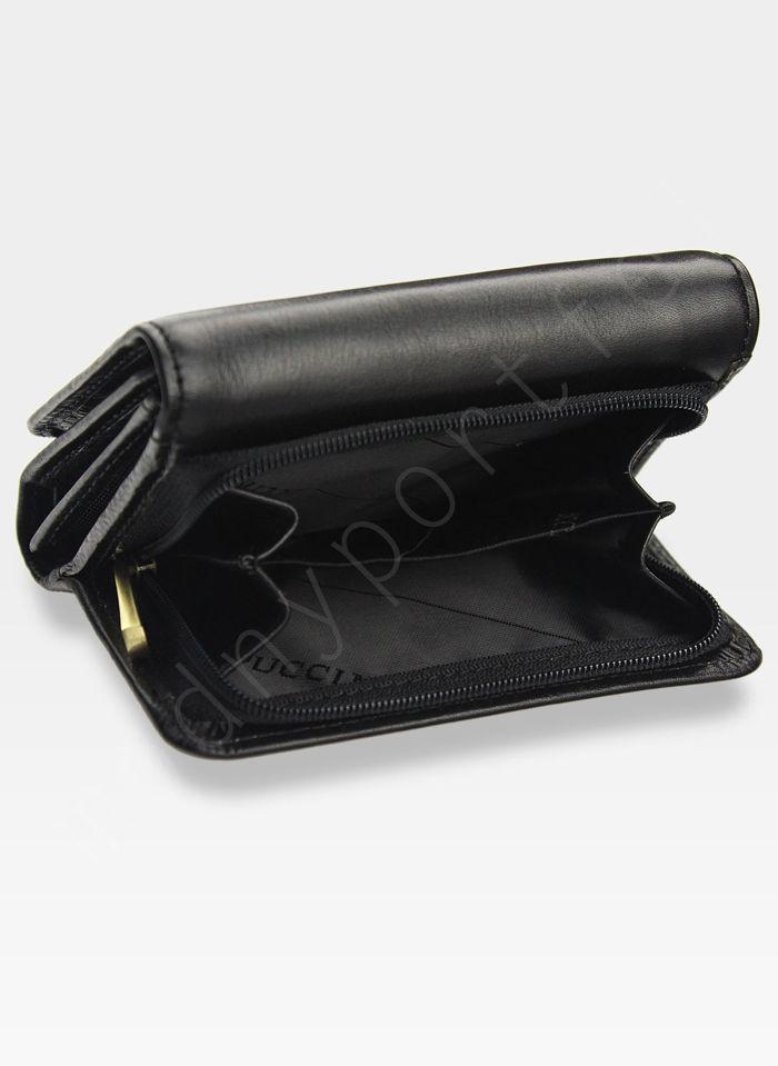 Portfel Damski Skórzany PUCCINI Mały i Pojemny Czarny MU22035