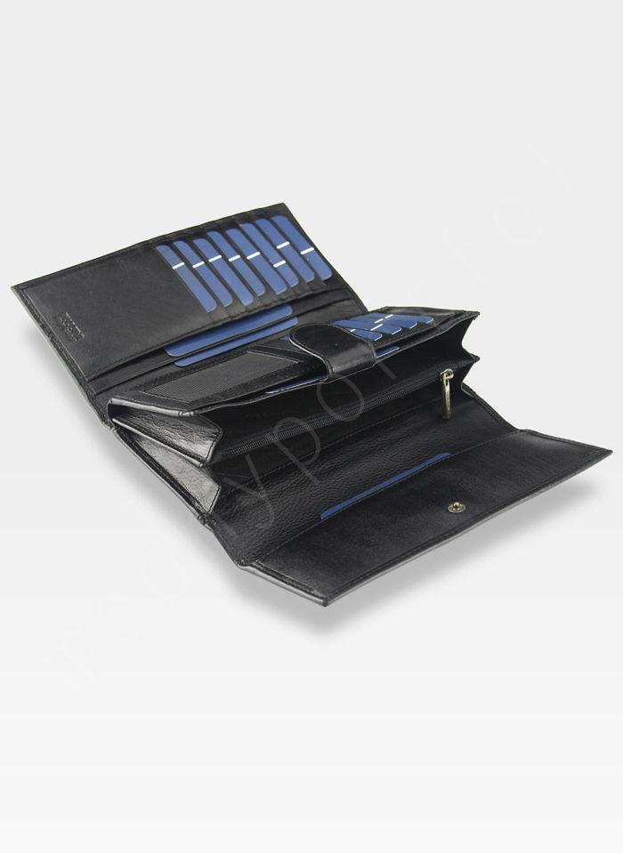 Portfel Damski Skórzany PUCCINI Rozbudowany Czarny MU1680125