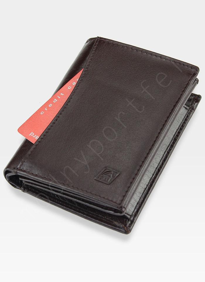 Portfel Męski A-Art Elegancki Klasyczny 4076 Brązowy RFID