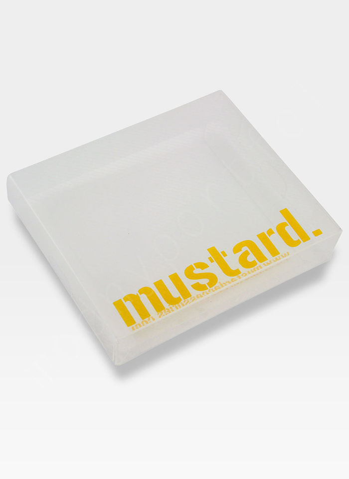Portfel Męski Mustard LOVE NOT WAR Na Prezent SLIM