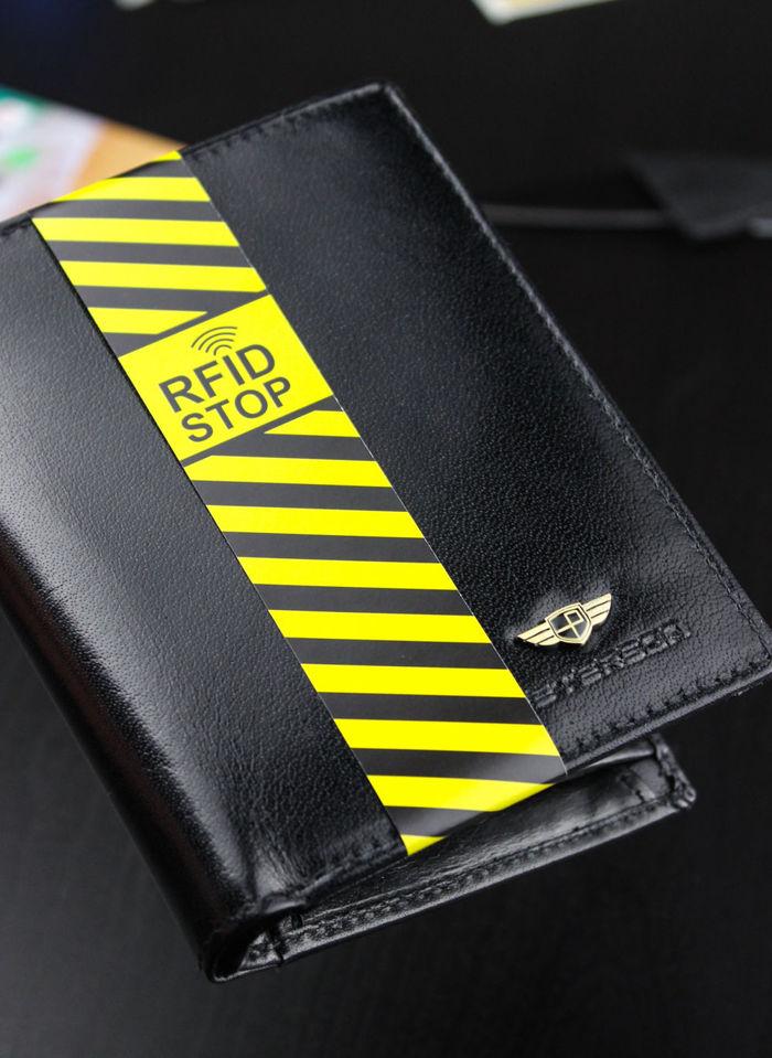 Portfel Męski Peterson Czarny Skórzany 339 System RFID STOP