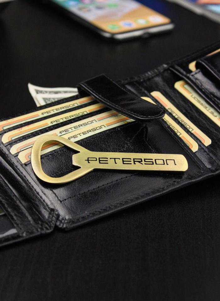 Portfel Męski Peterson Skórzany 312 Otwieracz
