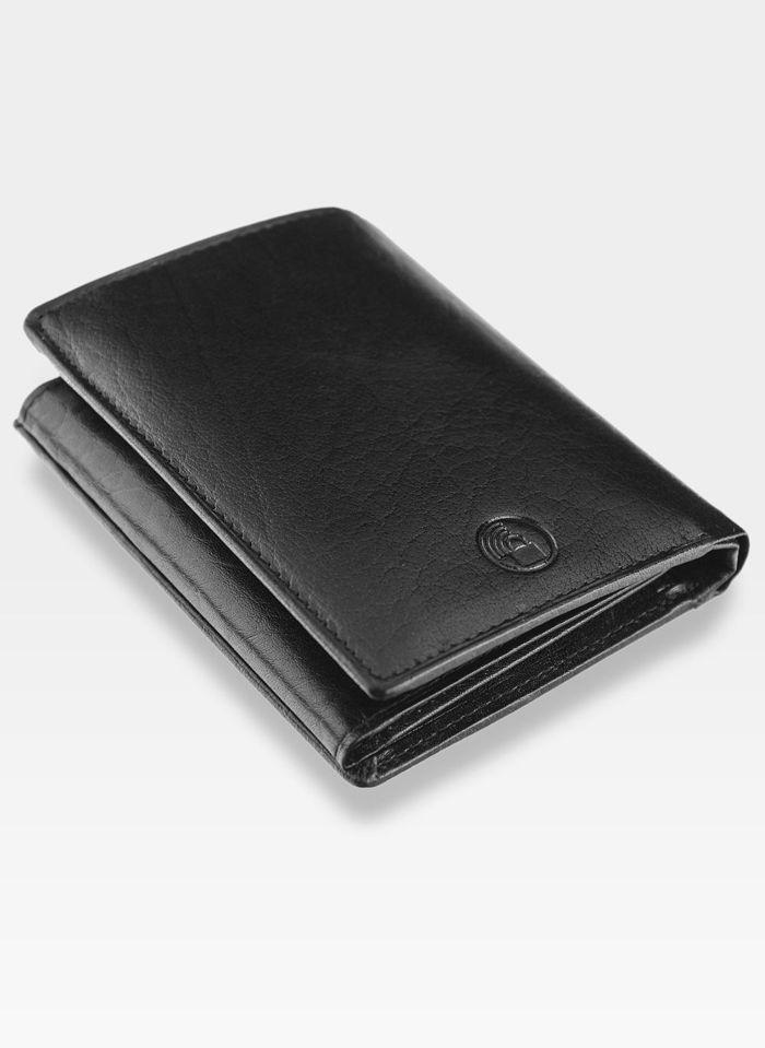 Portfel Męski Peterson Skórzany Czarny 350 RFID STOP