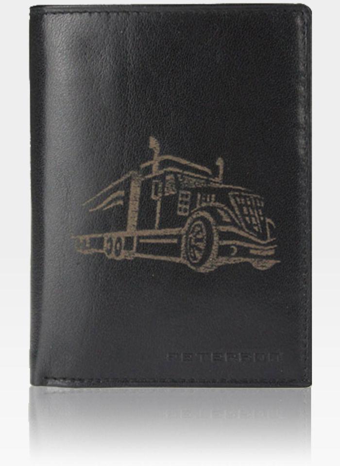 Portfel Męski Peterson Skórzany Czarny 350 z mowytem Tira