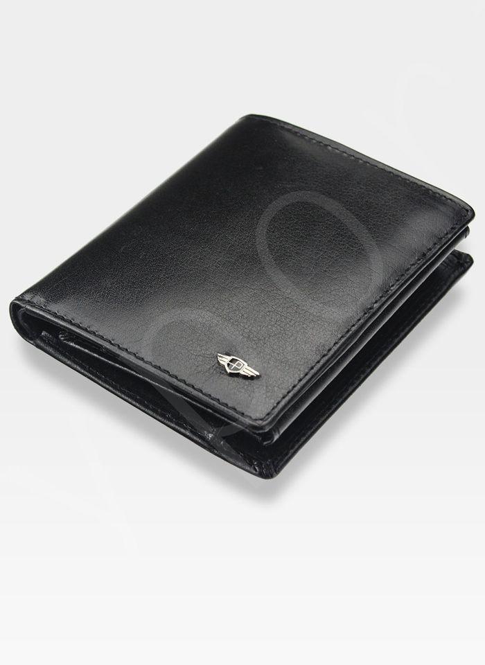 Portfel Męski Peterson Skórzany Czarny System RFID STOP 301