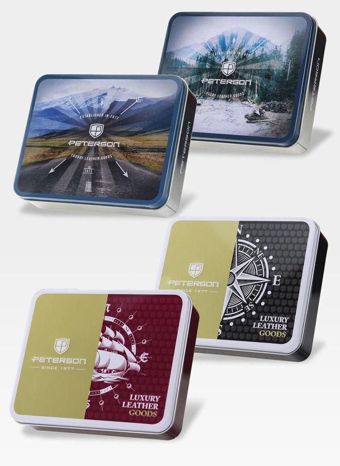 Portfel Męski Peterson Skórzany Miejsce Na Kardę SD Memory Card 347