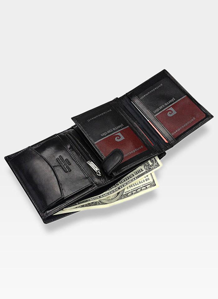 Portfel Męski Pierre Cardin Skórzany Klasyczny Czarny YS520.1 326