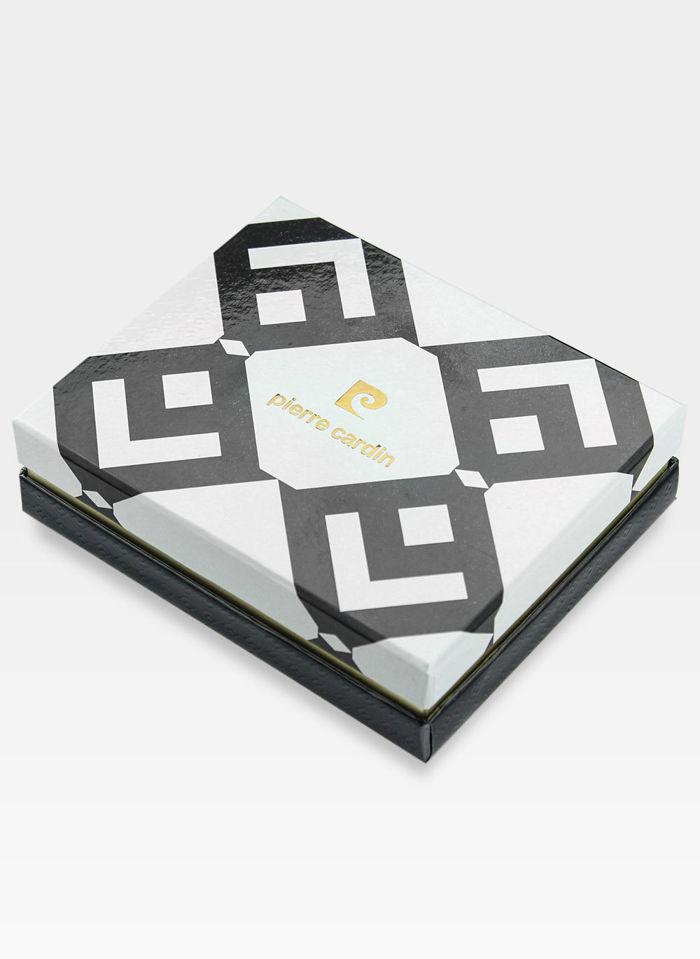 Portfel Skórzany Męski Pierre Cardin Cardholder Mały Czarny Tilak11 P02