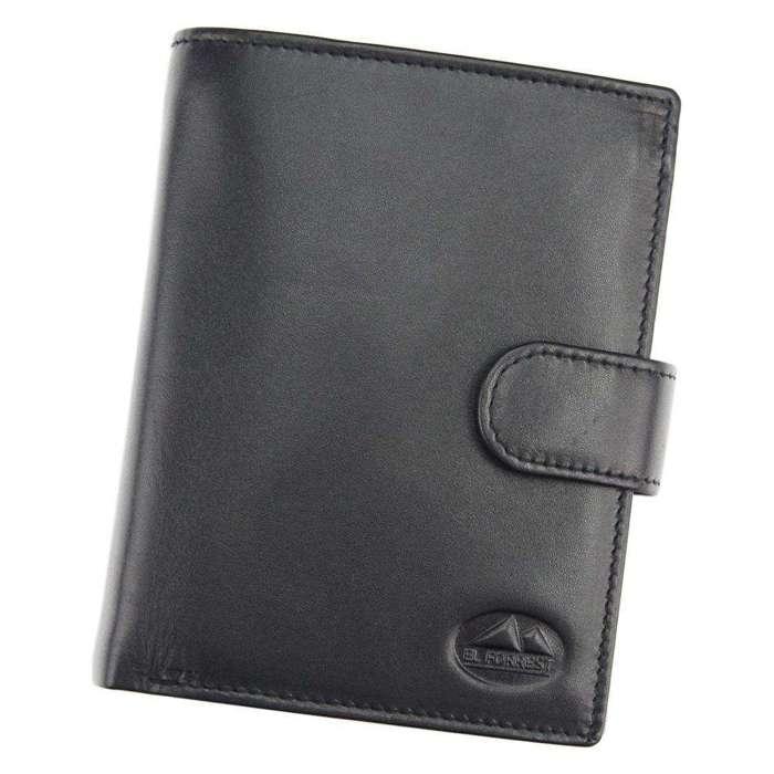 Portfel męski skórzany EL FORREST 988-67 RFID czarny