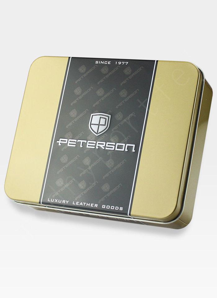 Skórzana Podkówka Na Drobne Peterson 614 Ciemny Brąz