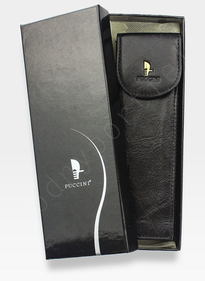 Skórzane Etui Na Długopis PUCCINI Czarne 1802P