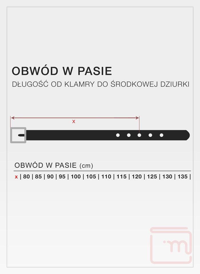 Skórzany Pasek Męski Pierre Cardin 70002 Skóra Najwyższej Jakości