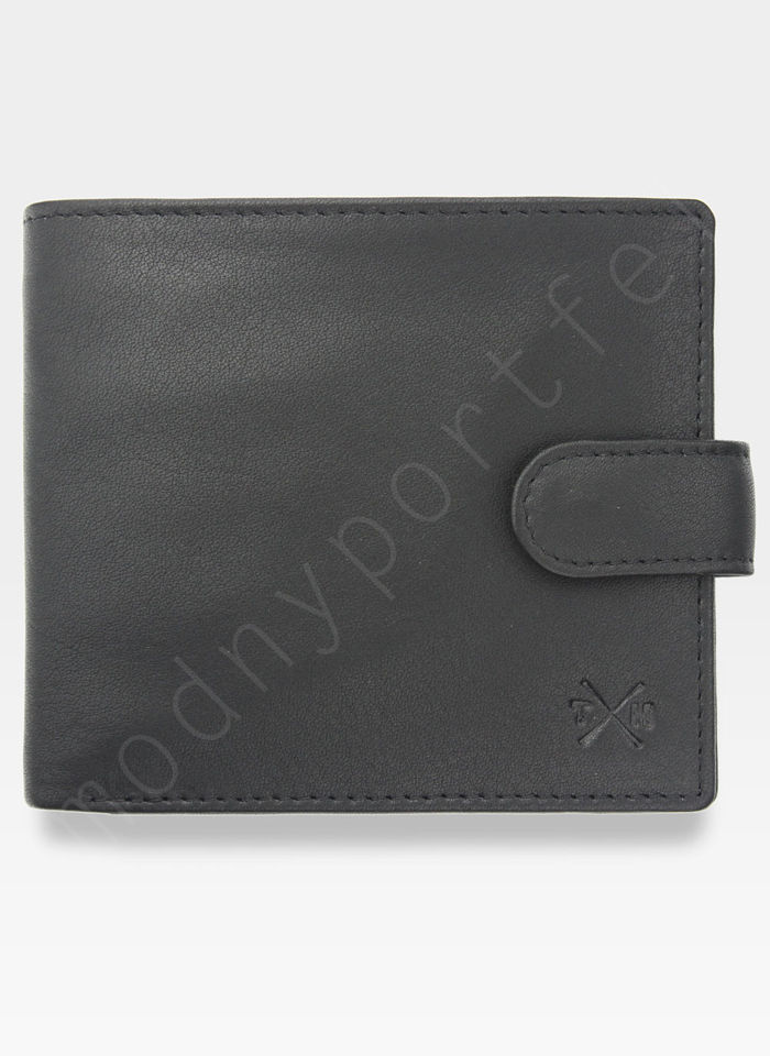 Tumble And Hide Bezpieczny Portfel Męski Skórzany Czarny Zapinany RFID 2241 17 2