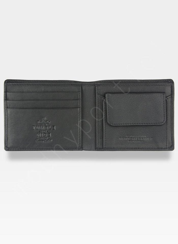 Tumble and Hide Bezpieczny Portfel Męski Skórzany Czarny RFID 2025 17 1