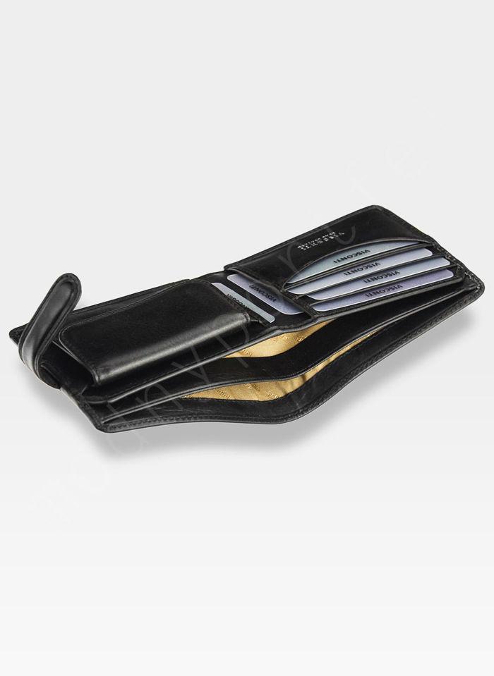 Viscont Bezpieczny Portfel Męski Skórzany Czarny RFID TSC47