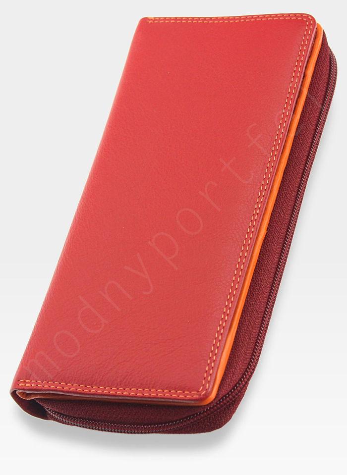 Visconti Portfel Damski Skórzany RAINBOW RB55 Czerwony Multi